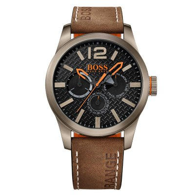 "Boss Orange Herrenuhr ""Paris"" Multifunktion IP Khaki 47mm"