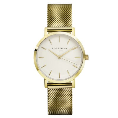 "Rosefield Damenuhr ""The Tribeca"" Weiß/Gold - 33mm"