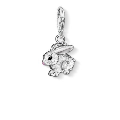 "Thomas Sabo Charm-Anhänger ""Hase"" aus 925 Sterlingsilber, Kaltemail"